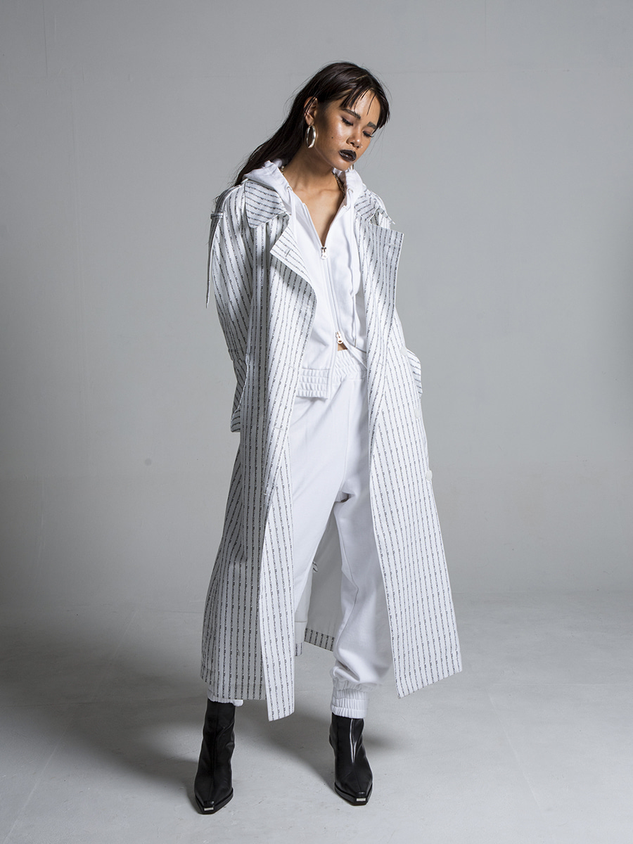 G_LOGO PROJECT TRENCH COAT / WHITE