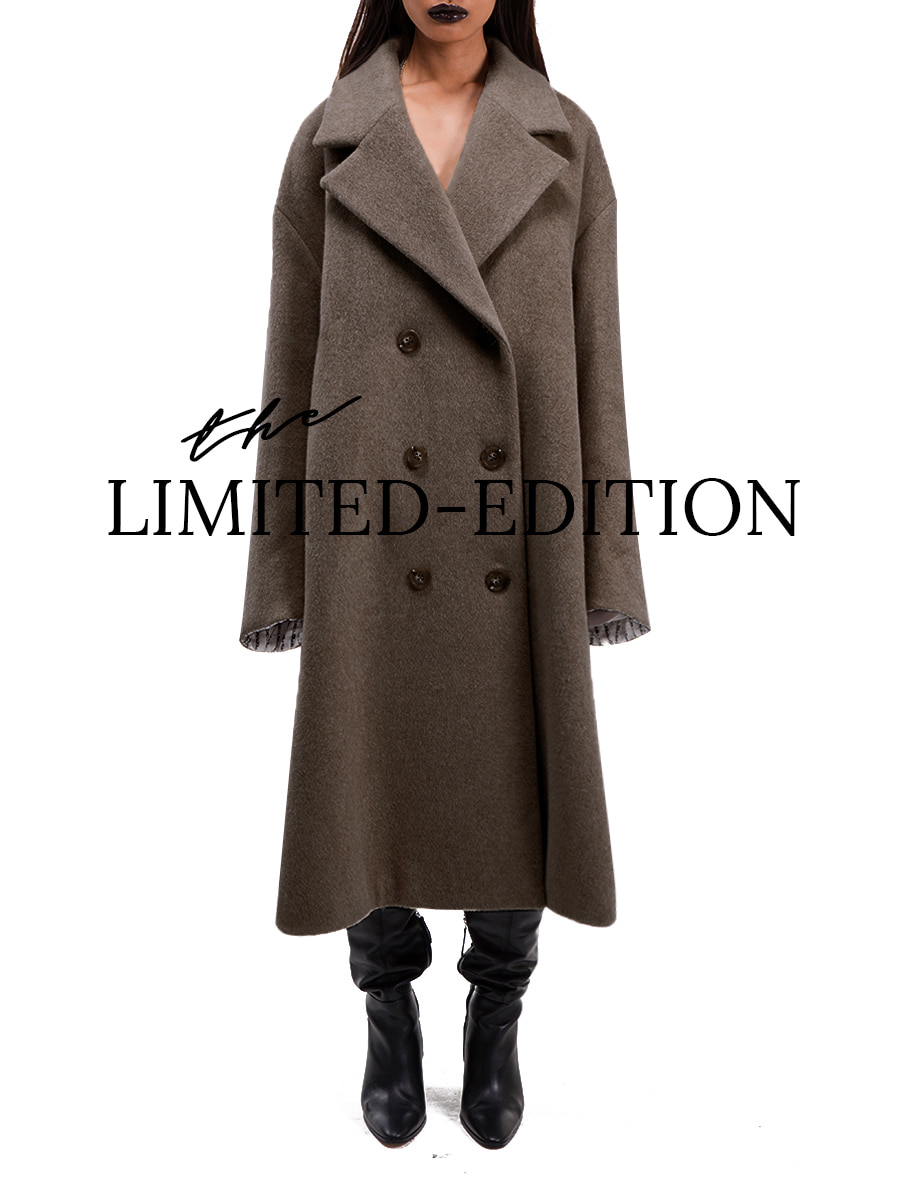 G_OVERSIZE SILHOUETTE COAT / BROWN