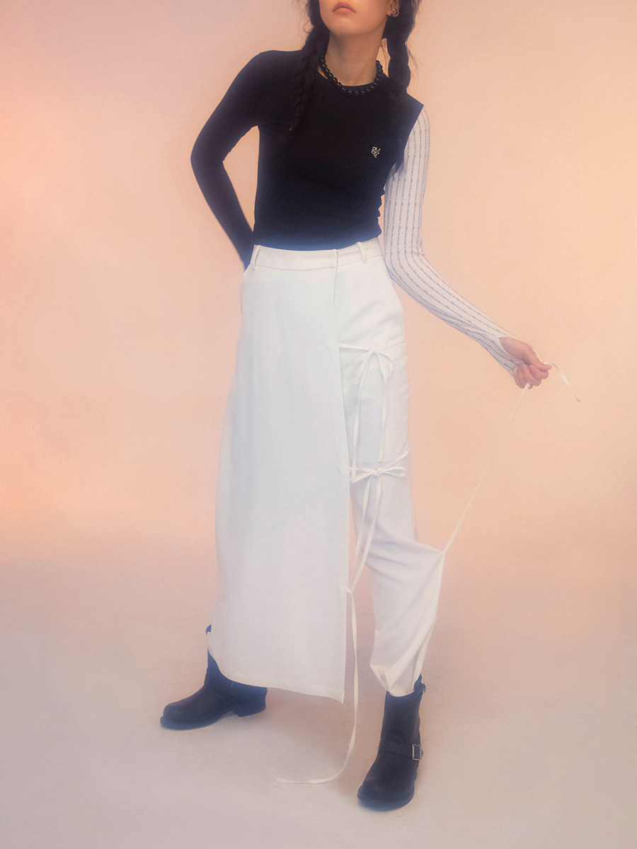G_CULOTTES PANTS / WHITE