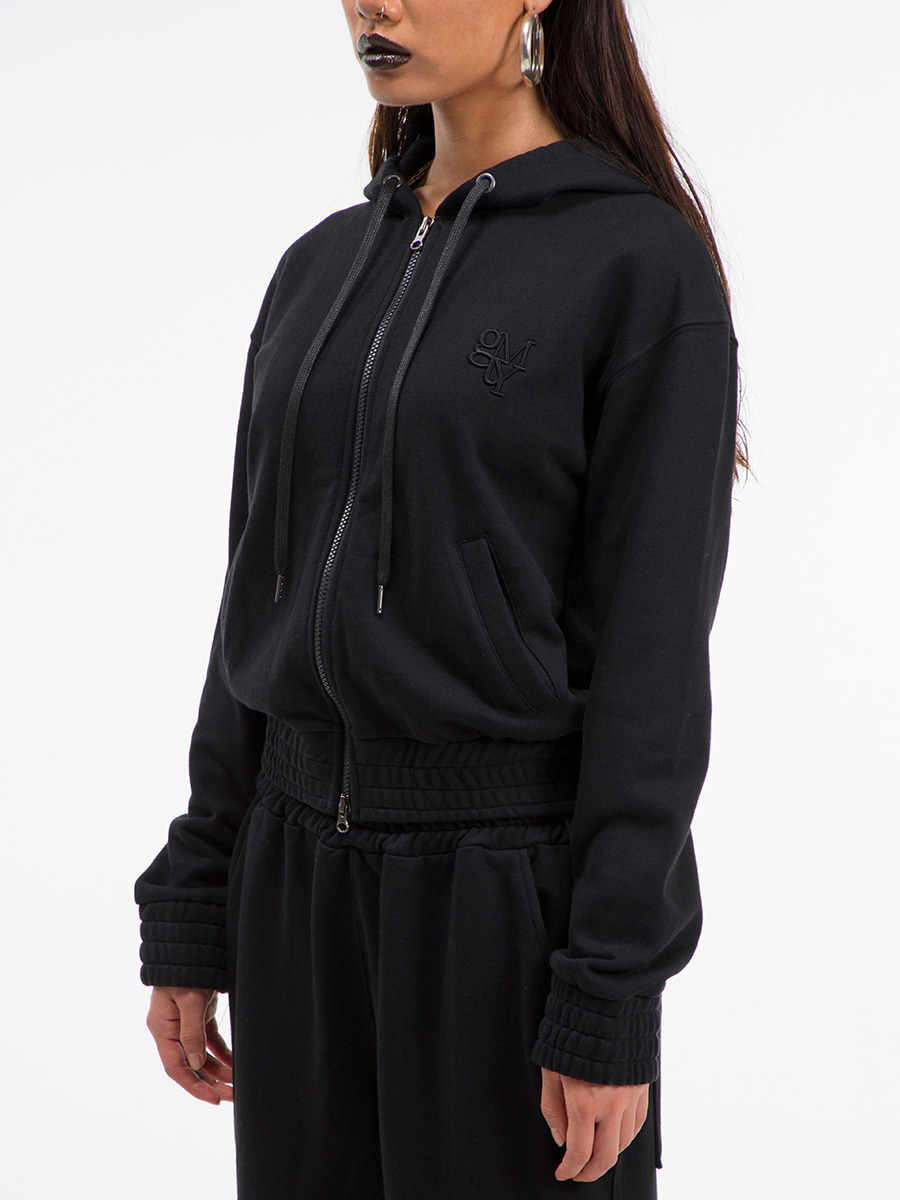 G_BAND ZIP-UP HOODIE / BLACK