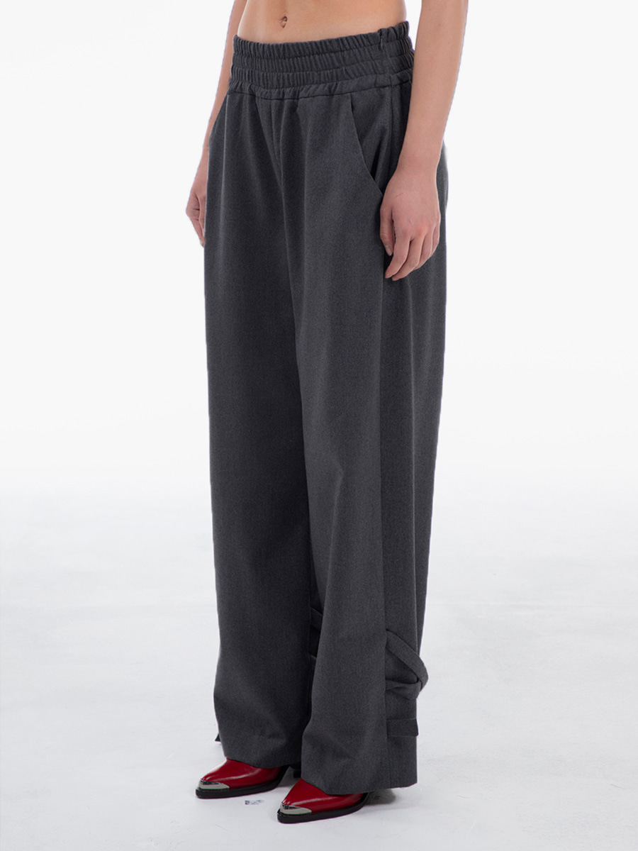G_BANDING FORMAL PANTS / GREY